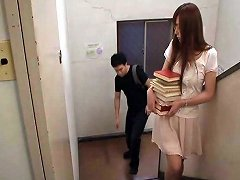 Naughty Japanese Librarian Getting Fucked Hardcore At Work