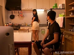 Wet, Wild, Kinky Fun With A Japanese Girl In The Kitchen