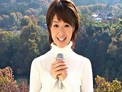 Giddy Japanese Newsgirl Gets Fucked By Her Colleagues At Work